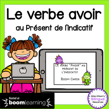 Le Verbe Avoir Au Present De L Indicatif Avec Les Pronoms French Boom Cards