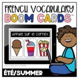 French Boom Cards™ Le vocabulaire d'été   Distance Learning