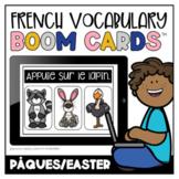 French Boom Cards™ Le vocabulaire de Pâques   Distance Learning