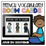 French Boom Cards™ Le vocabulaire du jour du Souvenir   Distance Learning