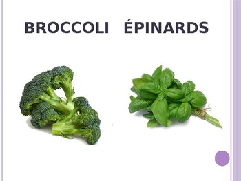 French Vegetables Powerpoint