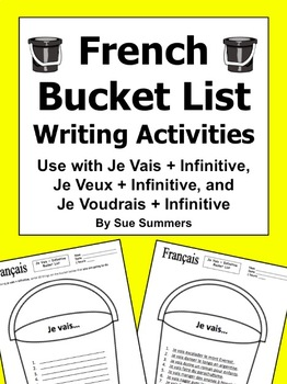 French Bucket List - Je Vais / Je Veux / or Je Voudrais + Infinitive