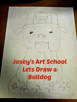 French Bulldog Drawing Lesson: Art Lesson and Reading Lesson about Bulldogs