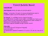 French Bulletin Board/ Word Wall Cards