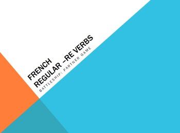 French Bundle : 6 activities for regular -RE verbs