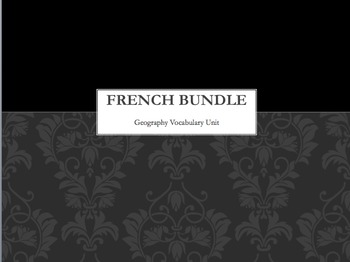 French Bundle : 10 Geography activities