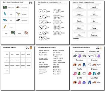 French Bundle for Smart Teachers: 10 beginner units & ☆147+☆ NO PREP printables
