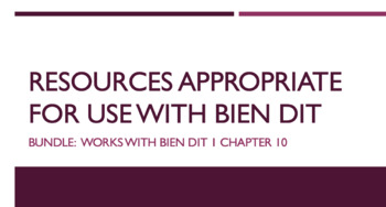 French Bundle : items appropriate for teaching Bien Dit 1 ch. 10