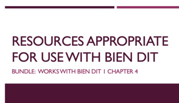 French Bundle : items appropriate for teaching Bien Dit 1 ch. 4
