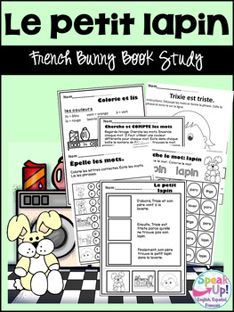 French Bunny Book Study {Le petit lapin} ~ Simplified for