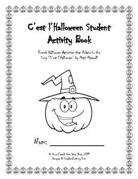 """French """"C'est l'Halloween"""" Student Activity Printable Booklet"""