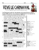 French CARNAVAL/MARDI GRAS intermediate low interpretive r
