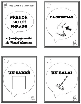 French Speaking Game and Activity: CATCH PHRASE