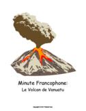 French CI current event story: Le Volcan de Vanuatu, slides, answer keys