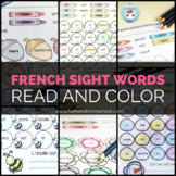 French Sight Words Color by Word Bundle