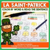 FRENCH Saint Patrick's Day | La Saint-Patrick: color by word