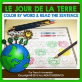 Jour de la Terre - FRENCH Earth Day Color by Word