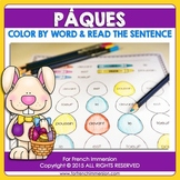 FRENCH Easter Color by Word | Pâques