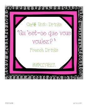 Qu'est-ce que vous voulesz : French Café Drinks