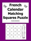 French Calendar 4 x 4 Matching Squares Puzzle - Days, Months, Seasons