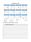 French Calendar Activity