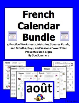 French Calendar Bundle - Days of the Week, Months, and Seasons