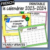 French Calendar - Calendrier 2018-2019