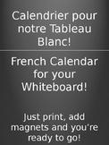 French Calendar (Calendrier en Francais)
