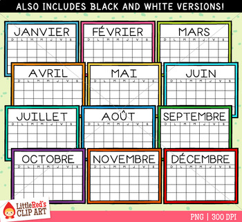 French Calendar Clip Art