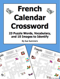 French Calendar Crossword Puzzle, IDs, and Vocabulary - Days, Months, Seasons