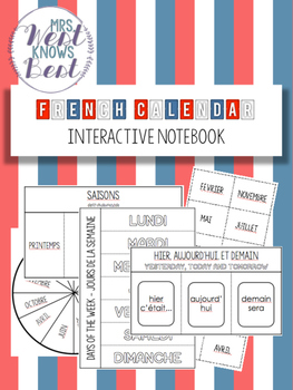 French Calendar Interactive Notebook