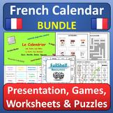 French Calendar Le Calendrier La Date Les Jours Les Mois BUNDLE