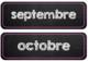 French Calendar Months - editable