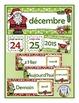 French Calendar Pocket Chart Bundle for Winter