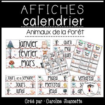 French Calendar Posters / Affiches pour le calendrier - Animaux de la forêt