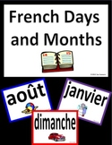 French Calendar Signs and Bulletin Board - Days & Months