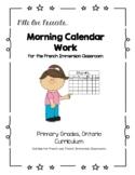 French Calendar Work