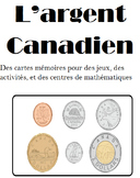 French Canadian Money Flashcards (72 cartes mémoires)