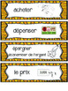 French Canadian Money Math Wall cards (La monnaie canadien