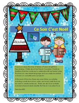French Canadian Christmas Story and Activities Franco-Onta
