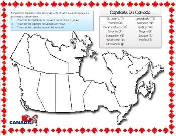 French ~ Capitals of Canada ~ Capitales Du Canada