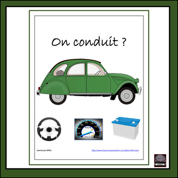 French Car/Driving vocabulary and activities!
