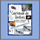 French Carnaval de Québec/Winter Carnival-letter/word scramble - vocabulary
