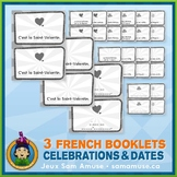 French Celebrations & Dates • 3 Reading & Writing Booklets