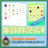 French Celebrations & Dates • Bingo Game • Abstract Theme