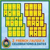 French Celebrations & Dates J'ai/Qui a Games • 2 decks of
