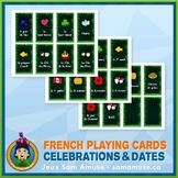 French Celebrations & Dates Playing Cards • Card Game • Ju