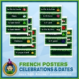 French Celebrations & Dates Word Wall • Horizontal 1/4 Pag