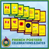 French Celebrations & Dates Word Wall • Vertical 1/2 Page