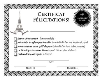 French Certificate for Frustrated French Teachers!